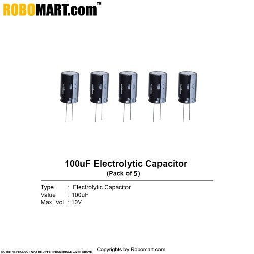 100µf 10v electrolytic capacitor