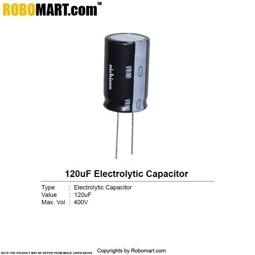 120µF 400v Electrolytic Capacitor buy online in India
