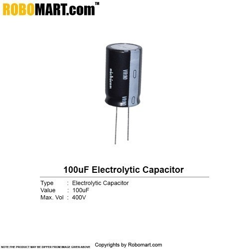 100µf 400 electrolytic capacitor