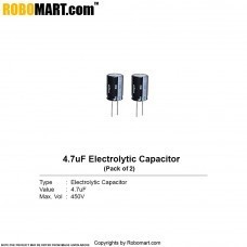 4.7µF 450v Electrolytic Capacitor (Pack of 2)