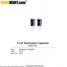 4.7µF 400v Electrolytic Capacitor (Pack of 2)
