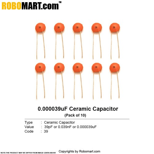 39pf ceramic capacitor