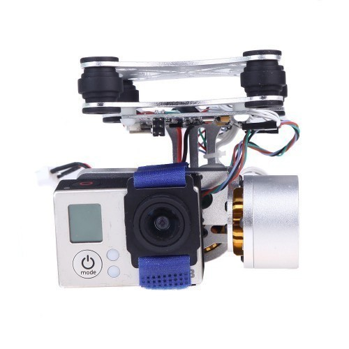 dji phantom gopro 23 cnc metal brushless camera gimbal with motors and controller for camera