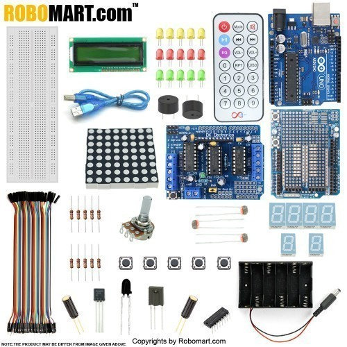 ARDUINO UNO R3 with L293D MOTOR DRIVE SHIELD