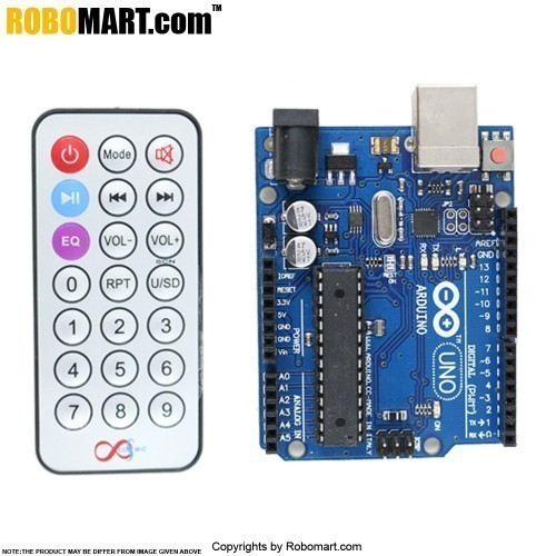 ROBOMART ARDUINO UNO R3+L293D MOTOR DRIVE SHIELD STARTER KIT WITH BASIC ARDUINO PROJECTS