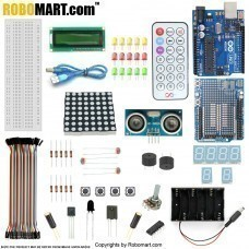 ROBOMART ARDUINO UNO R3+DISTANCE SENSOR STARTER KIT WITH 19 BASIC ARDUINO PROJECTS