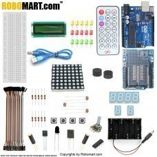ROBOMART ARDUINO UNO R3+PROTOTYPE SHIELD STARTER KIT WITH 17 BASIC ARDUINO PROJECTS
