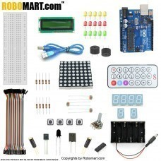 ROBOMART ARDUINO UNO R3+1602 LCD STARTER KIT WITH 17 BASIC ARDUINO PROJECTS