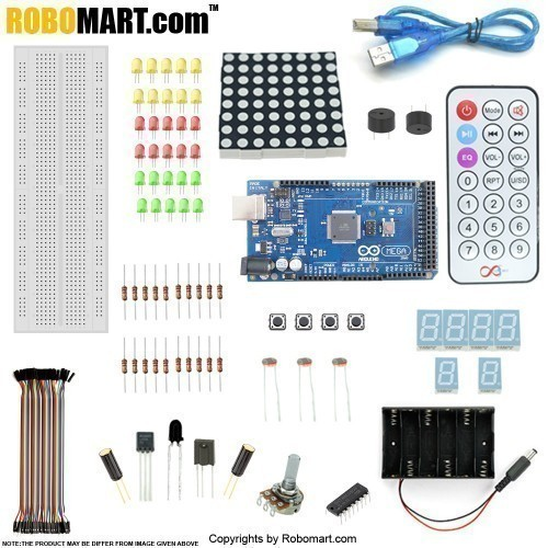 Robomart Mega 2560 R3 Starter Kit with 16 basic Arduino Project