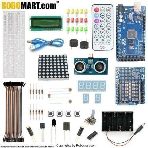 robomart mega2560 r3+distance sensor starter kit with 19 basic arduino projects