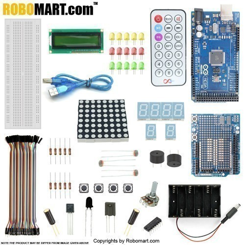 Mega 2560 R3 Prototype Shield Starter Kit With 17 Basic Arduino Projects