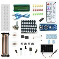 Robomart Nano V3 1602 Lcd Starter Kit With 17 Basic Arduino Projects