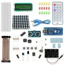 Robomart Nano V3 Distance Sensor Starter Kit With 19 Basic Arduino Projects