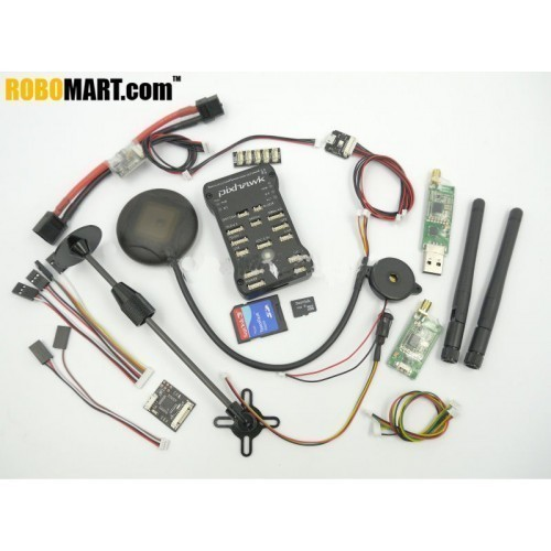 Pixhawk PX4 2.4.6 32 bit ARM Flight Controller & NEO 7M GPS/4G TF Card & Led External & PPM/PM Module/433Mhz DTM for Multicopter