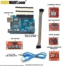 Arduino Workshop Kit using True Arduino Clone(imported) with  Atmega 328smd for all workshop companies/college clubs/entrepreneurs (Standard Kit)