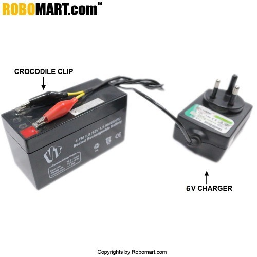 6V 1 Amp Charger for Lead Acid Battery