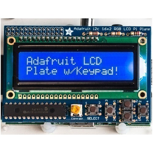Raspberry Pi - Blue and White 16x2 LCD Kit