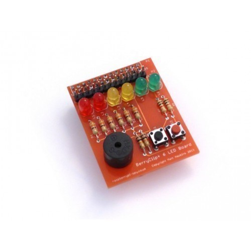 BerryClip Plus - LED and Buzzer RPi Add-On Board