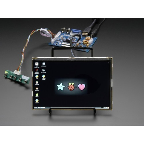 "HDMI 4 Pi: 7"" Display & Audio 1280x800 IPS - HDMI/VGA/NTSC/PAL"
