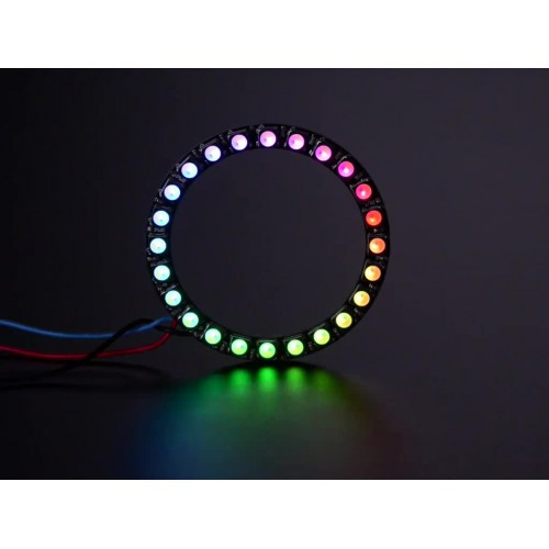 NeoPixel Ring - 24 x 5050 RGBW LEDs w/ Integrated Drivers - Warm White - ~3000K