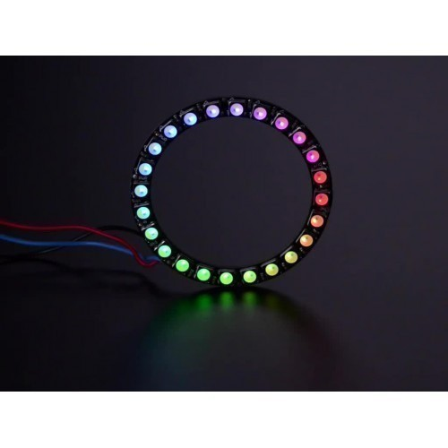 NeoPixel Ring - 24 x 5050 RGBW LEDs w/ Integrated Drivers - Cool White - ~6000K
