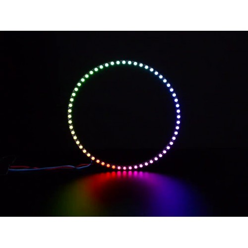 NeoPixel 1/4 60 Ring - 5050 RGBW LED w/ Integrated Drivers - Natural White - ~4500K
