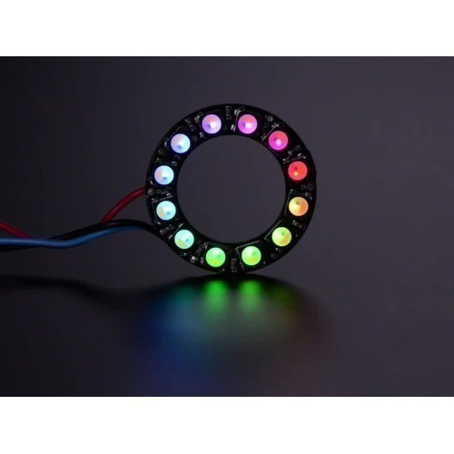 NeoPixel Ring - 12 x 5050 RGBW LEDs w/ Integrated Drivers - Warm White - ~3000K
