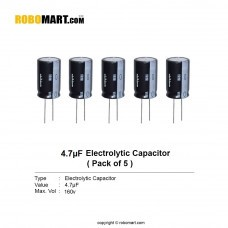 4.7µF 160v Electrolytic Capacitor (Pack of 5)