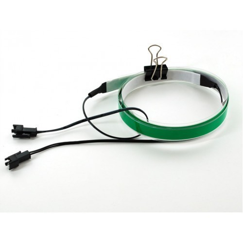 Green Electroluminescent (EL) Tape Strip - 100cm w/2 connectors