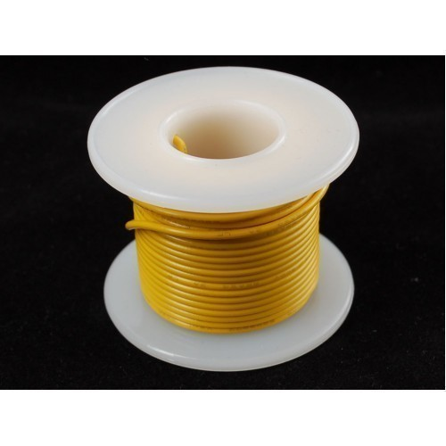 Solid-Core Wire Spool - 25ft - 22AWG - Yellow