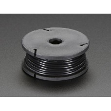 Stranded-Core Wire Spool - 25ft - 22AWG - Black