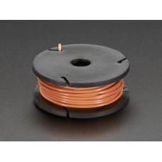 Solid-Core Wire Spool - 25ft - 22AWG - Orange