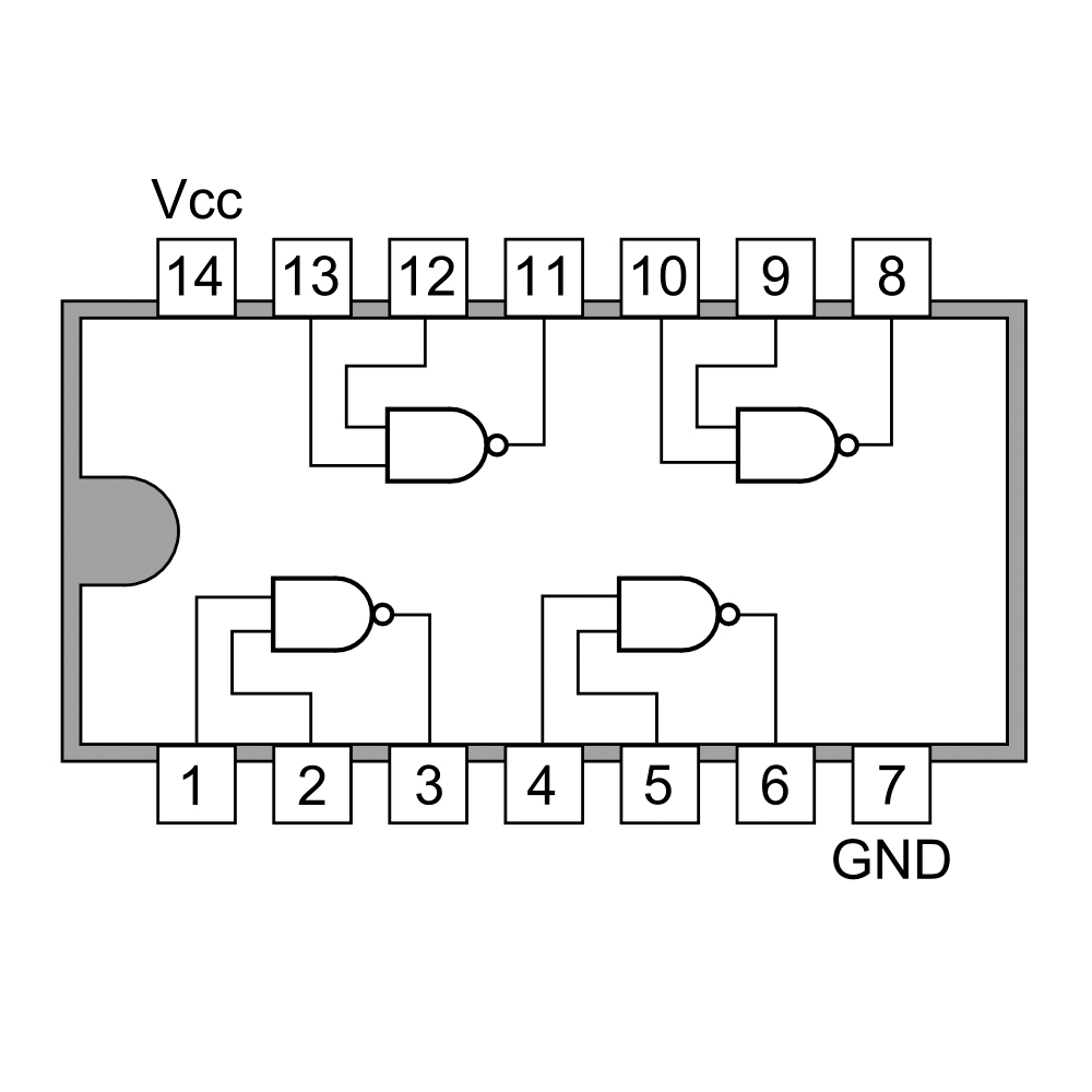 nand pin diagram best wiring library Pin Diagram 8085 74ls00 quad 2 input nand gate