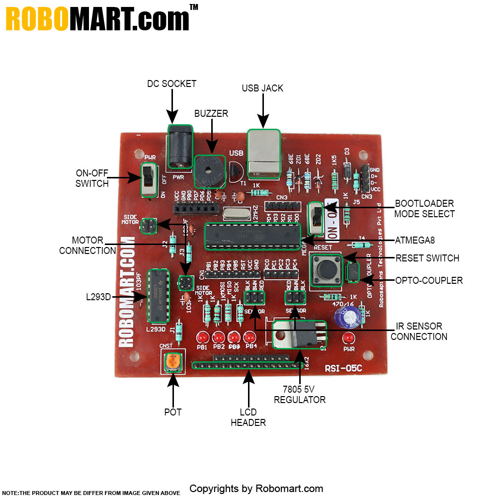 Atmega8 Mini Robotics Development Board V4.0.
