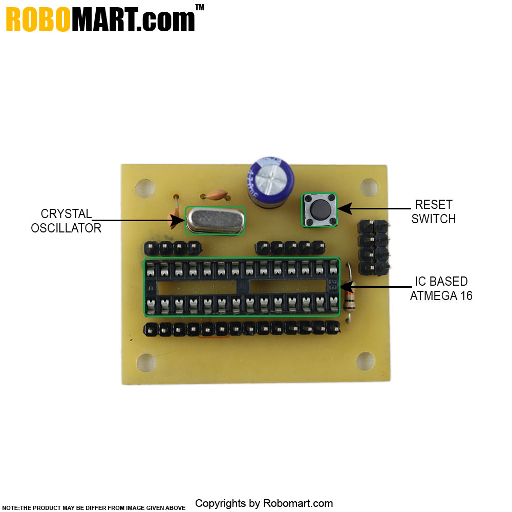 ATMEGA 8 Project Board without Controller V 1.0.
