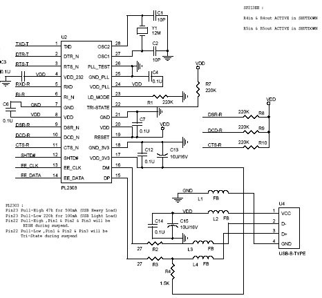 PL2303 USB To Serial Bridge Controller IC