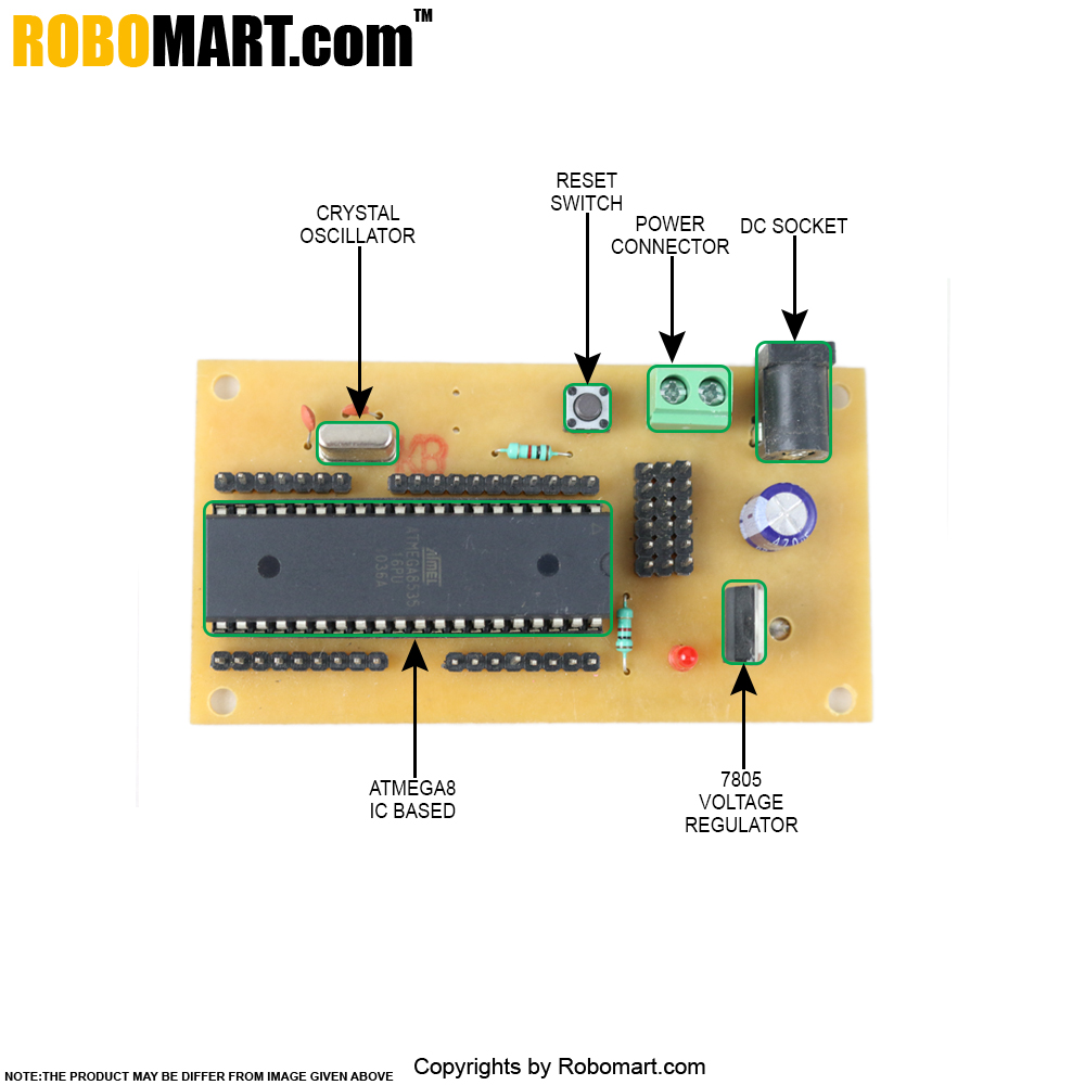 ATMEGA16 Project Board With Controller V2.0