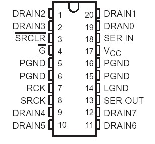 TPIC6A596 8-Bit Shift Register