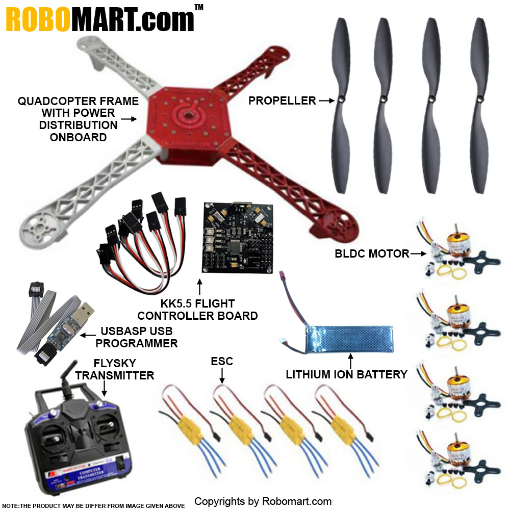 Quadcopter Standard Kit for All Workshop, Companies, College Clubs, Entrepreneurs